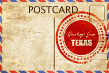 Vintage Postcard Greetings From Texas