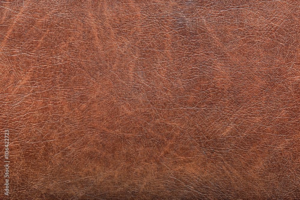 Fototapeta background of red vintage leather grunge
