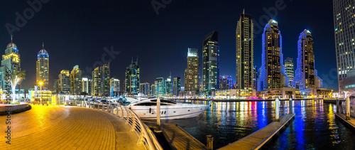 Photo  Panorama of Dubai marina