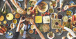 canvas print picture - Friends Happiness Enjoying Dinning Eating Concept