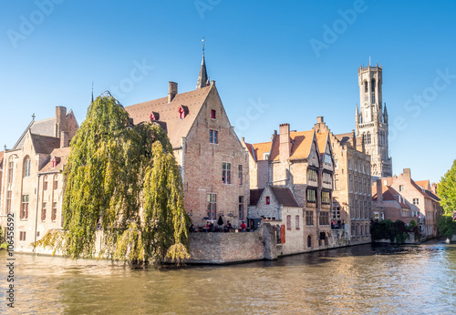 Wall Murals Bridges Brugge city scene