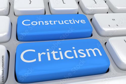 Fényképezés  Constructive Criticism concept