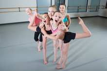 Group Of Young Girls Having Fu...