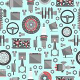 Auto spare parts seamless pattern