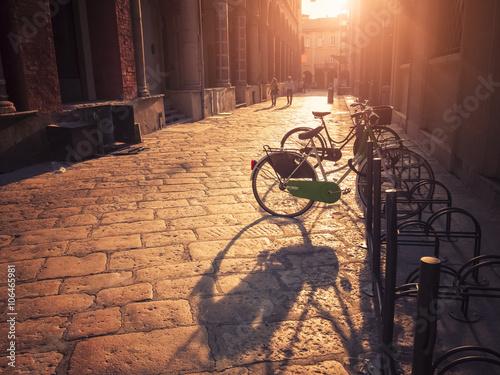 Deurstickers Fiets bike in the city