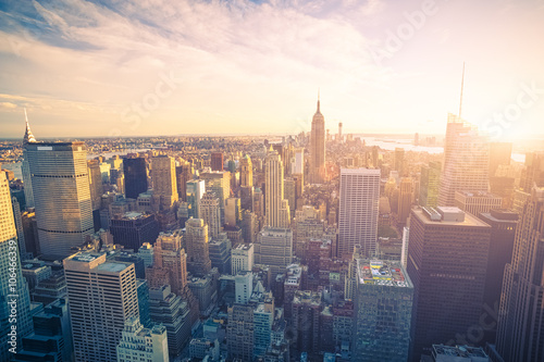 Staande foto New York New York city skyline
