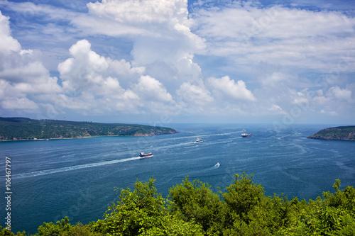 Fotografia  Bosphorus Strait Enters Black Sea