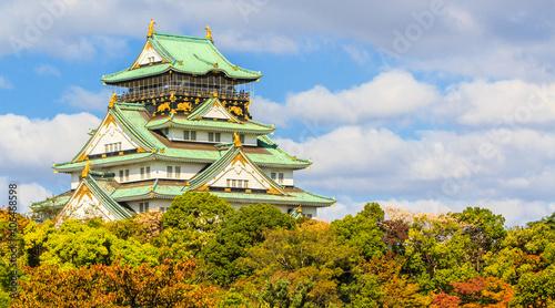 Stickers pour porte Japon Osaka castle in Osaka.