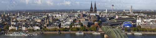 Poster Antwerpen Köln Panorama