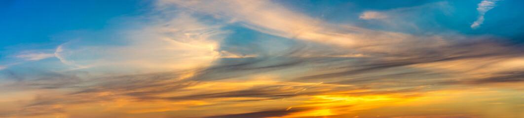 Panorama sunrise and sunset