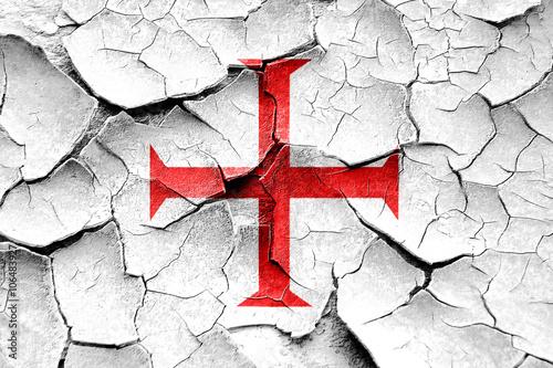 Fotografie, Obraz Templar knight flag