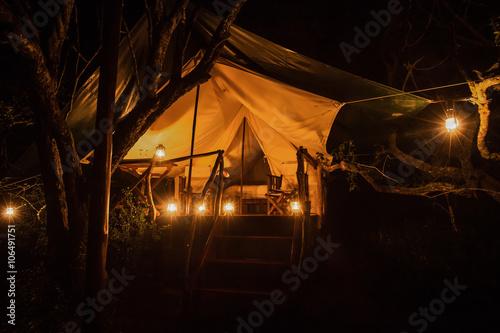 Fotografie, Obraz A luxury tent at a safari game lodge