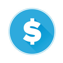 Flat Dollar Icon Or Sign