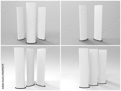 Elliptical Totem Display 3D Render Fototapete