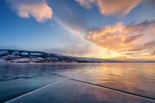 Winter Mountains Landscape, O...