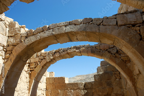 Deurstickers Rudnes Ancient ruins of Nabataean city Memphis, Israel