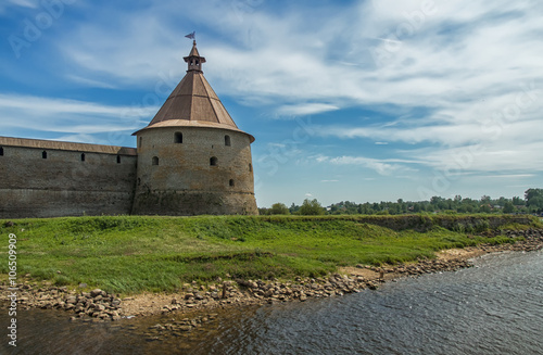 Fényképezés  Old fortress in the Lake Ladoga