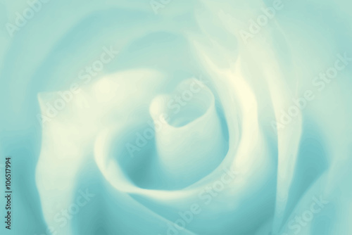 Fotografie, Obraz  Pure soft background with turquoise rose. Vector