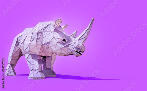 Origami Rhino Low Poly And Creativity Design Buy This Stock Photo