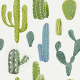 Wektorowy Kaktusowy Tło. Wzór bez szwu. Egzotyczna roślina. Tropik - 106521374