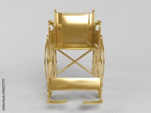 Fotografia, Obraz  golden 3d object isolated on white