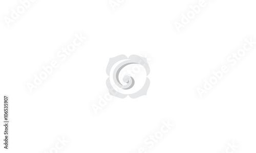Fleur spirale gris