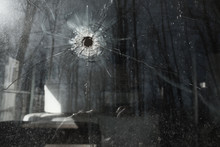 Bullet Hole In Vehicle Window