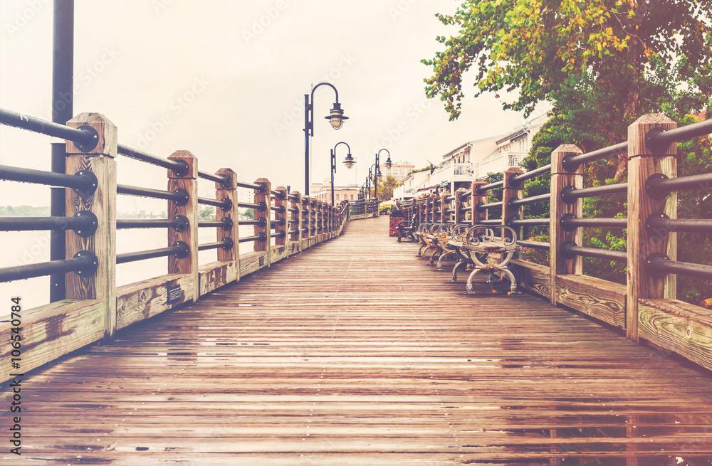 Fototapety, obrazy: Wilmington, North Carolina boardwalk