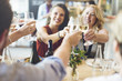 canvas print picture - Friends Party Cheers Enjoying Food Concept