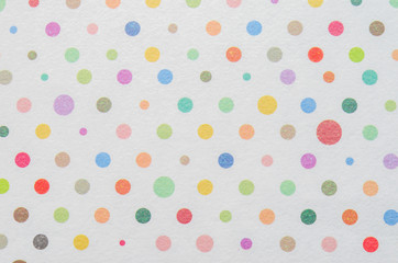 FototapetaWhite paper with colorful dot pattern