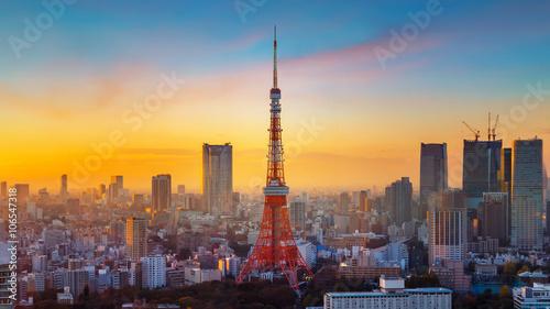 Foto auf AluDibond Tokio Tokyo Tower
