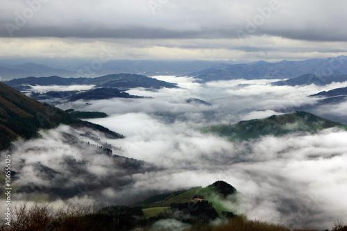 vista de valles de Guipúzcoa