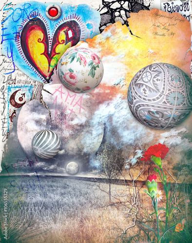 Garden Poster Imagination Dreams and bewitched valley