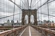 Famous Brooklyn Bridge in New York City