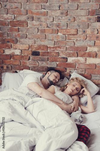 Fototapeta Couple in bed obraz na płótnie