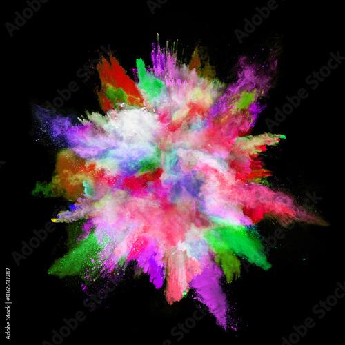 Fototapety, obrazy: Explosion of colored powder on black background