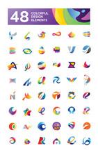 48 Colorful Design Elements