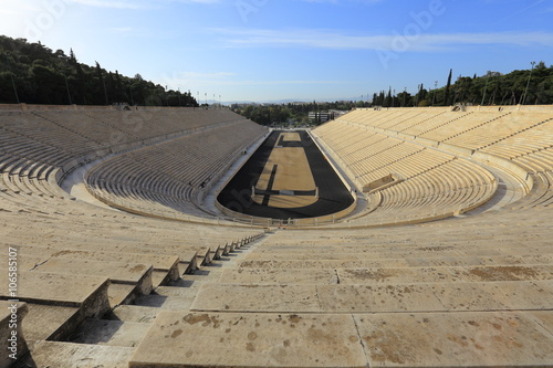 Staande foto Athene Panathenaic stadium or kallimarmaro in Athens (hosted the first modern Olympic Games in 1896), Greece