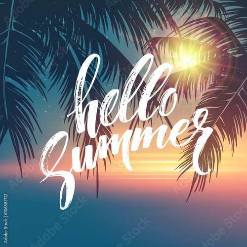 Fotografia  Hello summer  background