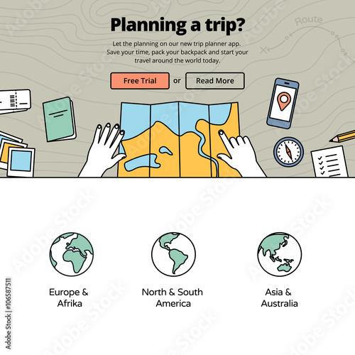 Planning vacation with a trip planner application top view on hands planning vacation with a trip planner application top view on hands with map travel gumiabroncs Image collections