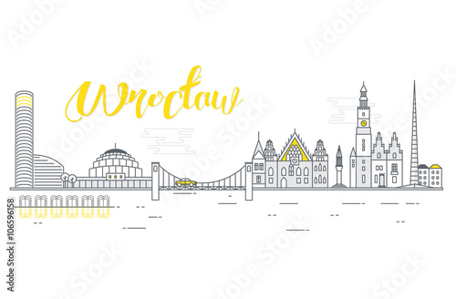 Panorama Miasta Wroclaw Buy This Stock Vector And Explore