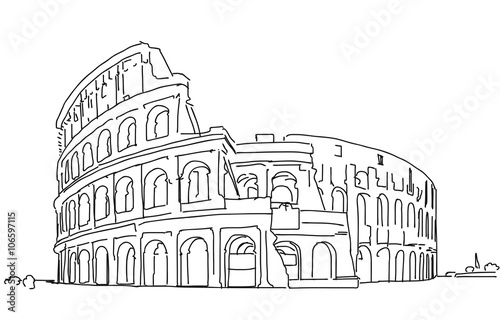 coloring pages of roman buildings - photo#6
