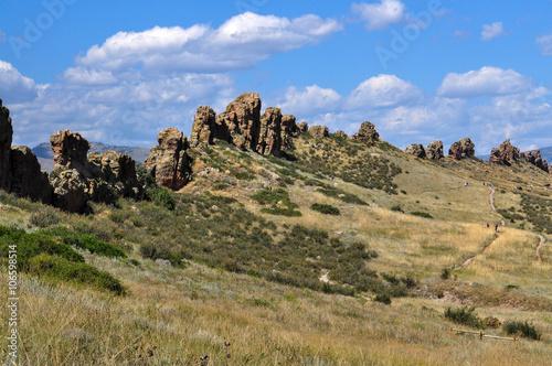 Devils Backbone is a popular hiking trail in Loveland, Colorado