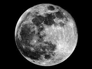 Full Moon phase. Taken by telescope. Fase Luna piena. Scattata con telescopio.