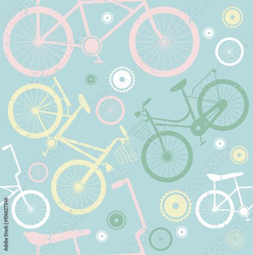 Materiał do szycia Wzór z stylowe rowery