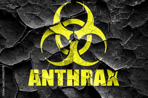 Photo Grunge cracked Anthrax virus concept background