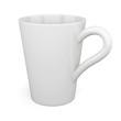 White mug isolated on white background. 3d render image.