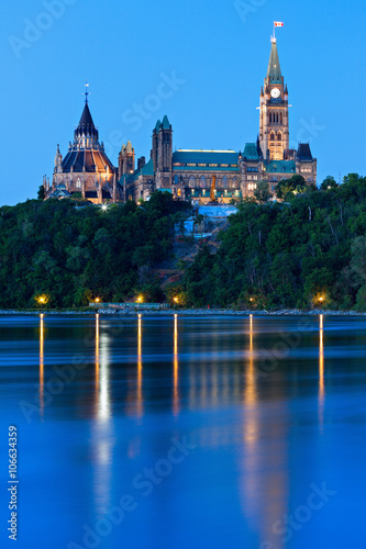 Peace Tower and Parliament Building in Ottawa
