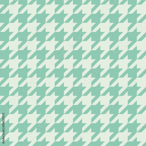 Photo  Seamless turquoise houndstooth pattern vector