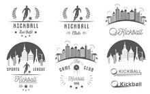 Set Of Kickball Logo, Badges And Emblems